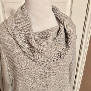 Grey Cowl-neck Sweater - Size L